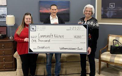 WWL Presents Donation to Community Kitchen